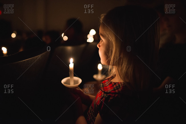 Girl at Christmas concert