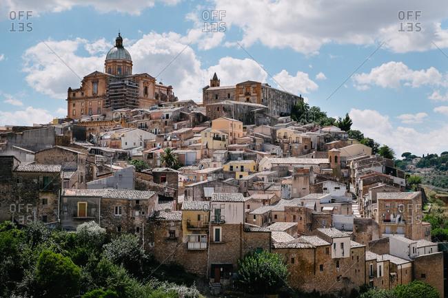 Scenic hillside city of Piazza Armerina, Sicily