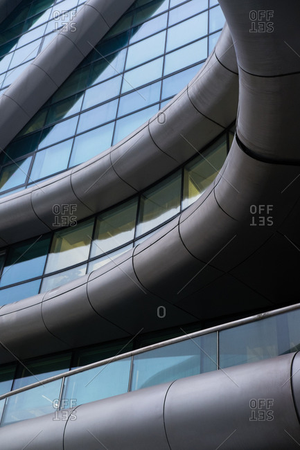 Curved modern architecture of building in China