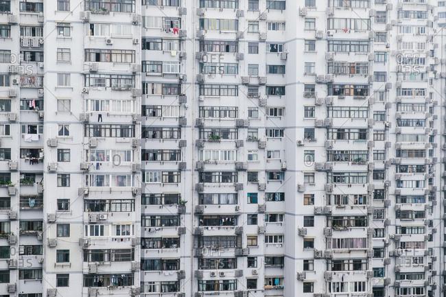 Massive apartment building in China