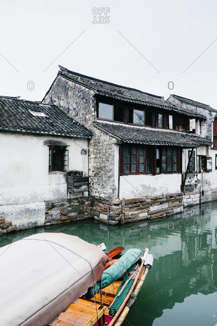 Canal home in Zhouzhuang, China