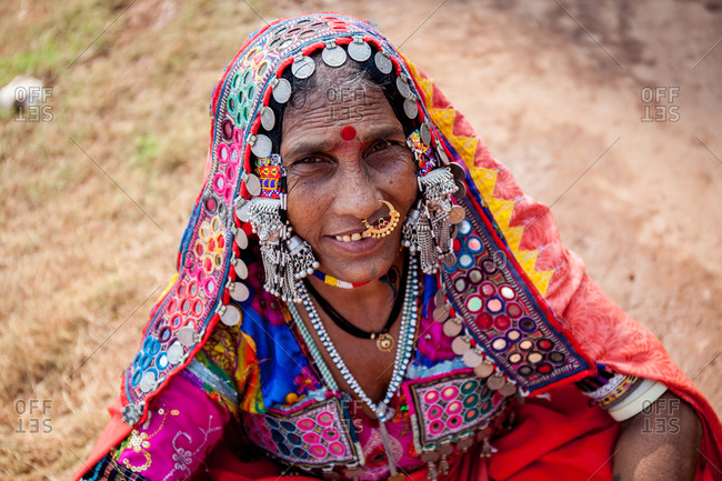 December 16, 2015: Indian woman with ornate jewelry