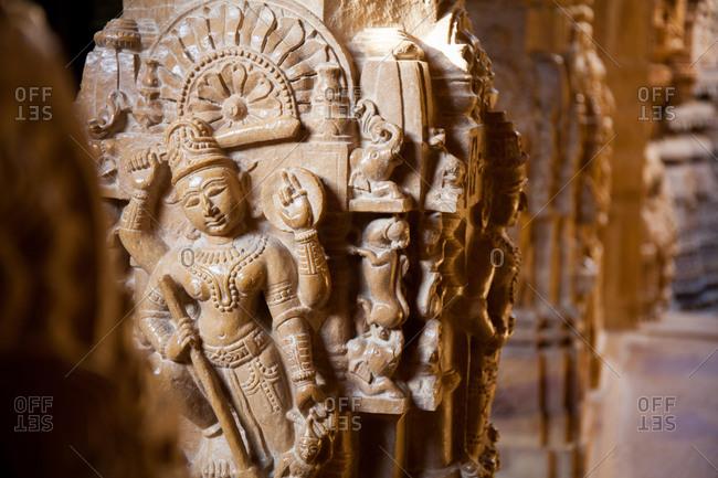 Carvings in Hindu temple