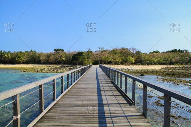 Footbridge in rural Indonesia