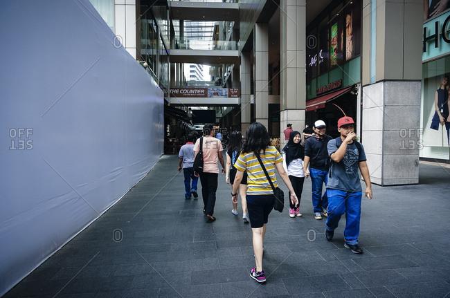 April 24, 2015: People at Kuala Lumpur shopping center