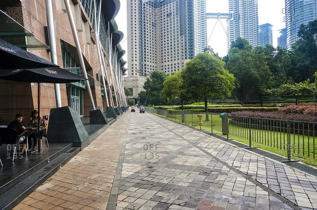April 24, 2015: People near Kuala Lumpur park