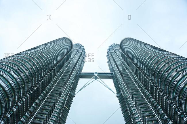 April 24, 2015: The Petronas Towers in Kuala Lumpur