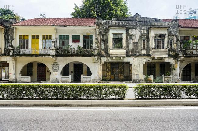Decaying building in Kuala Lumpur
