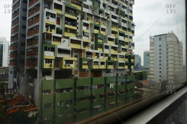 City view through a window