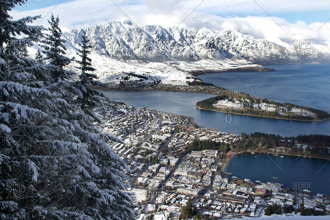 A view of Queenstown, New Zealand