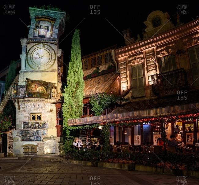 Leaning Clock Tower, Tbilisi, Georgia