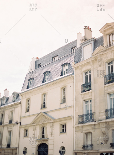 Facade of Parisian buildings