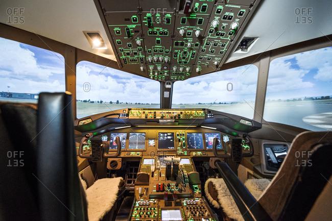 3/20/2016: Empty flight simulator