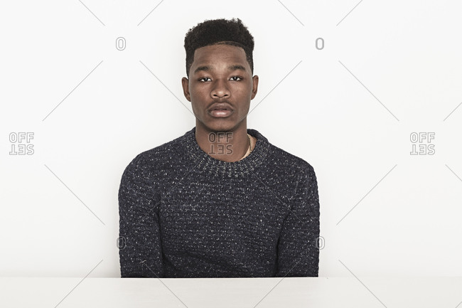 Portrait of a young man in a sweater