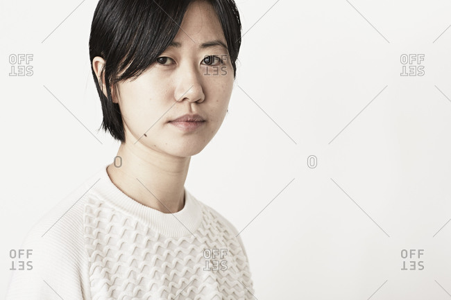 Woman in a white sweater