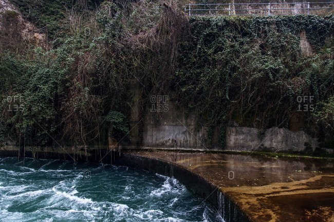 Hydroelectric power plant on the river Adda near Trezzo D'Adda, Italy