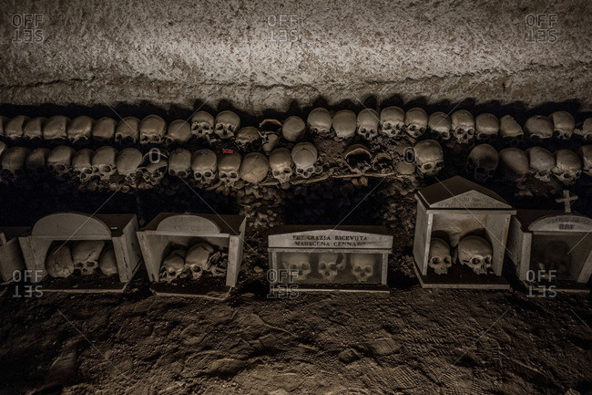 Fontanelle cemetery in Naples, Italy