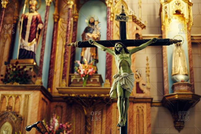 Crucifix inside a church