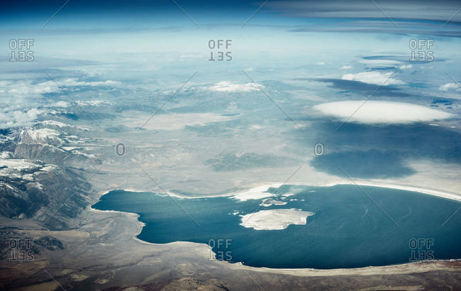 Aerial view of Mono Lake, California