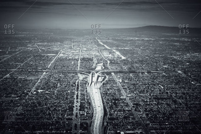 Los Angeles seen from above