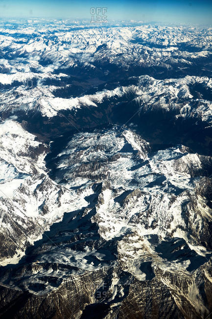 Austrian mountains from above - Offset