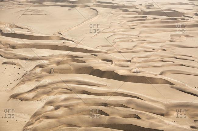 Sand dunes in Namibian desert