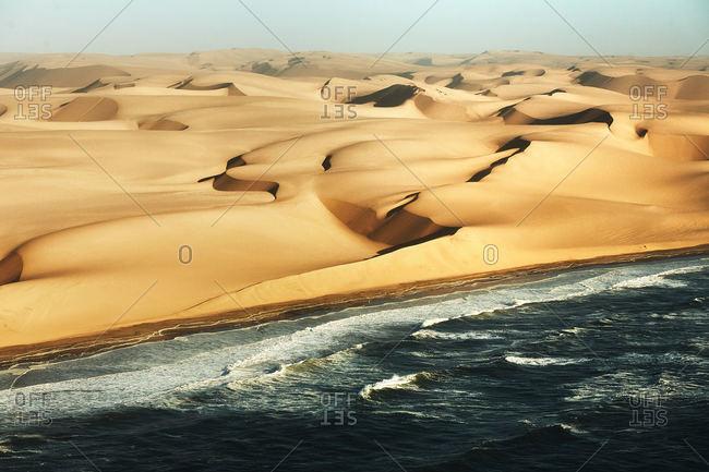 Namibian desert and sea