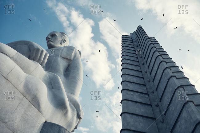 Havana, Cuba - December 9, 2015: Jose Marti statue in Havana, Cuba
