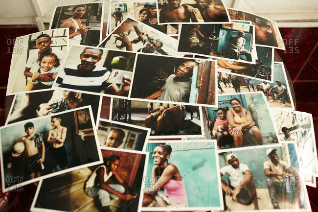 Havana, Cuba - December 21, 2015: Photograph collection of Cuba