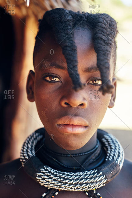 Namibia - March 17, 2016: Portrait of Namibian teen girl