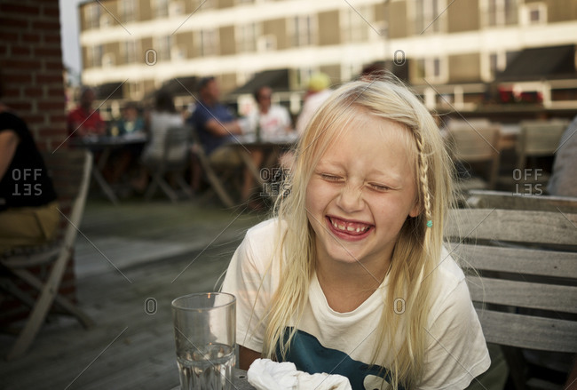 Laughing girl from the Offset Collection
