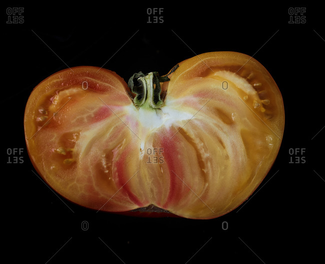 Close up of a tomato slice