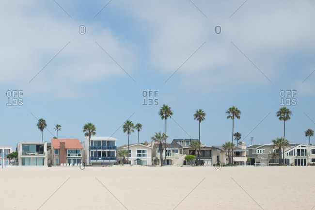 Houses along a beachfront
