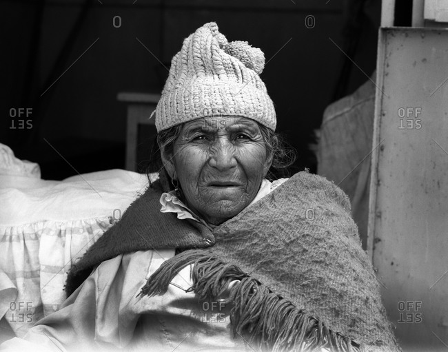 Potosi, Bolivia - September 17, 2011: Portrait of a woman in Potosi, Bolivia