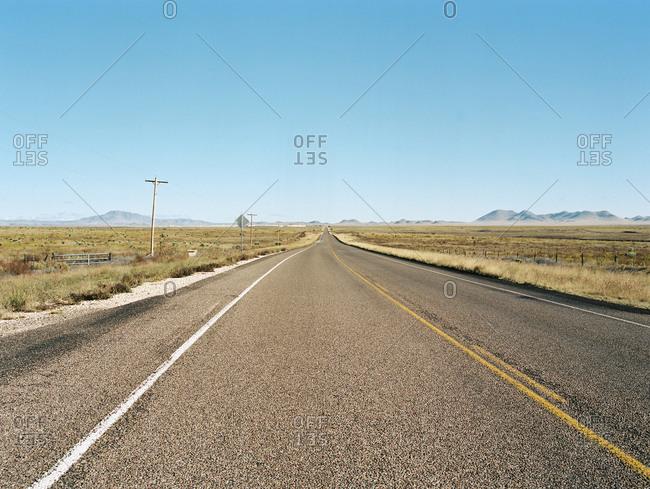 Open desert highway