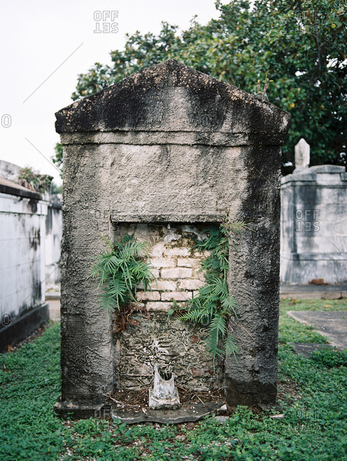 Old crypt in New Orleans cemetery