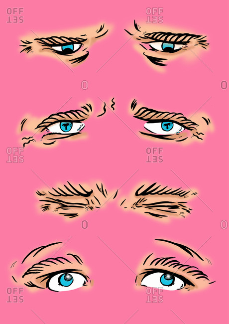 Various eye expressions