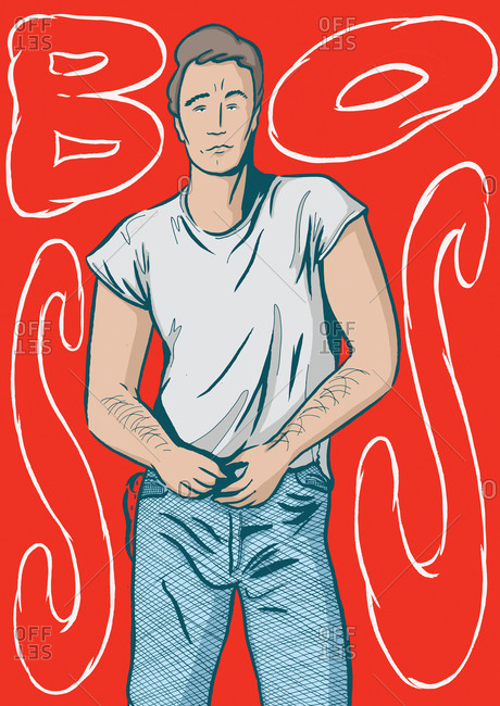 Man in t-shirt and jeans
