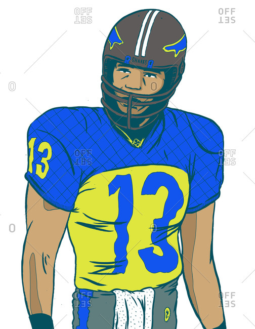 Illustration of a football player