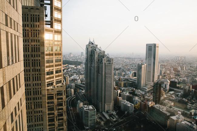 City skyline in Japan