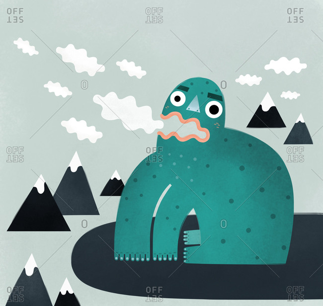 Frog eating clouds