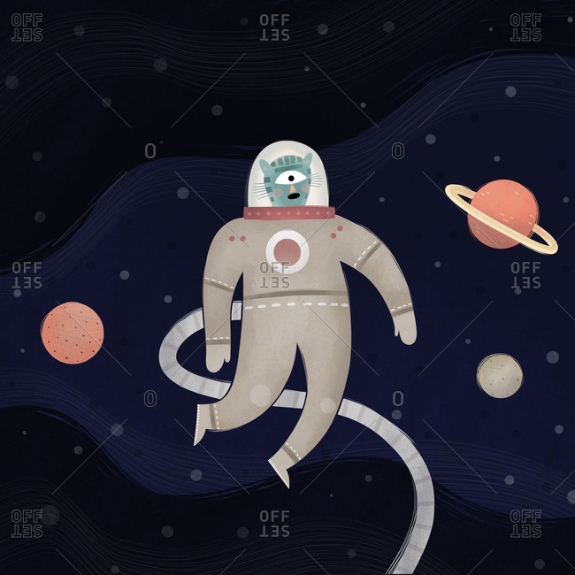 Cyclops cat out in space