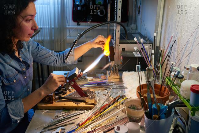 Bead maker using torch