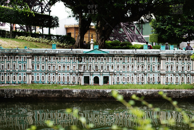 Shenzhen, China - July 19, 2015: Reproduction of St. Petersburg's Winter Palace at Window of the World