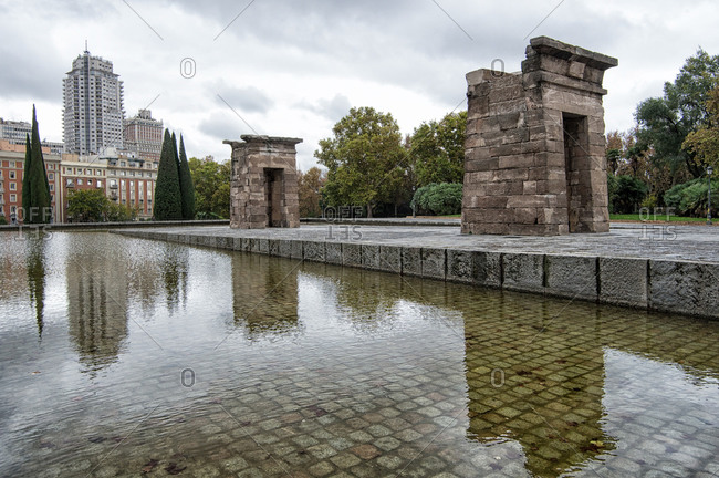 The Temple of Debod in Madrid, Spain
