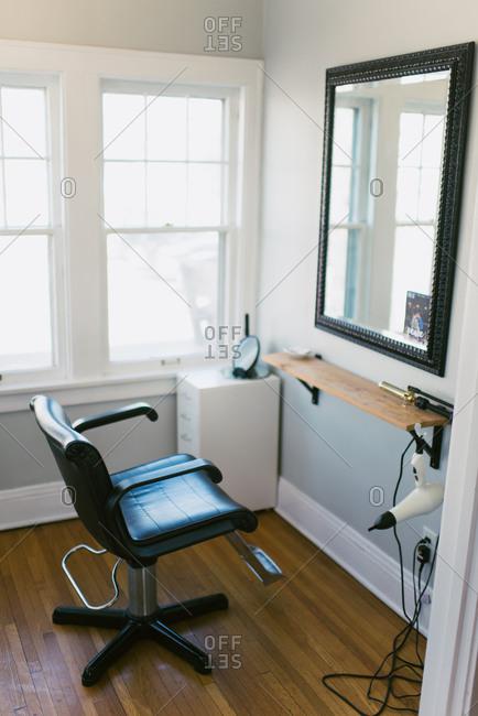 Hairdresser chair at home salon business
