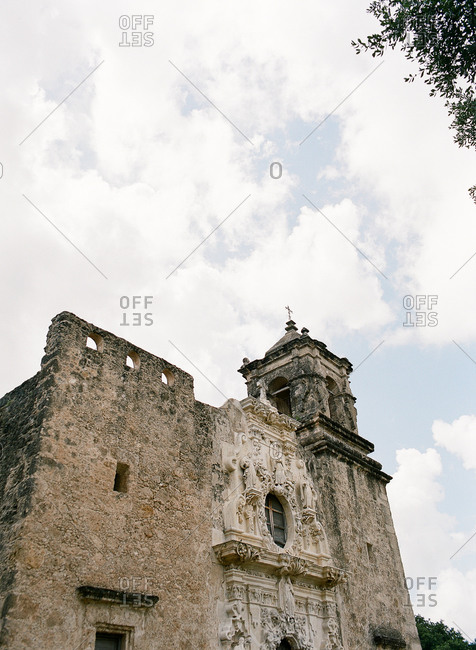 Low angle view of Mission San Jose, San Antonio, Texas
