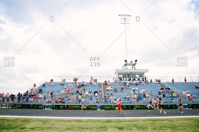 Austin, Texas - June 22, 2013: A high school track meet