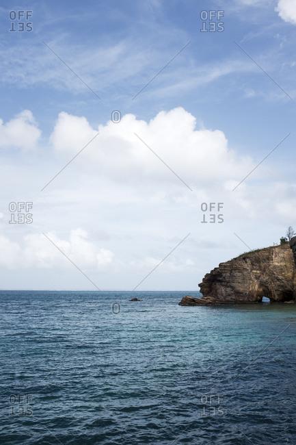 Caribbean coastal rock formation