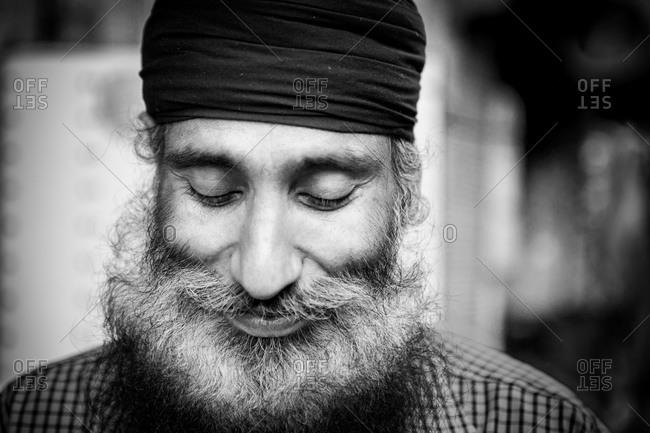 Amritsar, India - March 19, 2015: Portrait of Sikh man